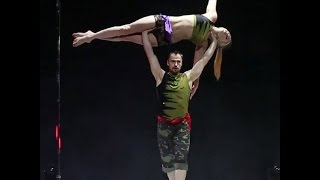 Best Tricks!!!World Pole Dance 2015 Doubles 2nd Place Hanna Antonova and Andrii Kopyniak