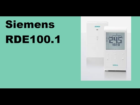 Heatwell Thermostat Programming Video for Siemens RDE100