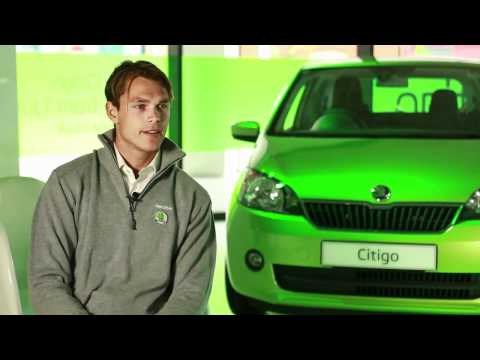 Andreas Mikkelsen drives the new ?KODA Citigo