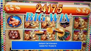 $25 BET - JACKPOT HANDPAY - GOLDEN EMPEROR High Limit Slot Machine & FREE SPINS BONUS!