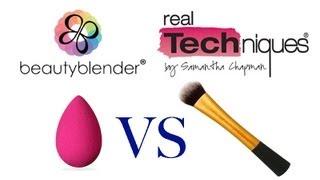 Обзор Beauty Blender VS Expert Face Brush by Real Techniques +Контурирование