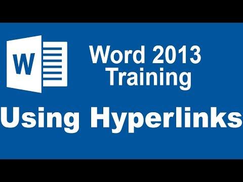 Microsoft Word 2013 Training - Using Hyperlinks