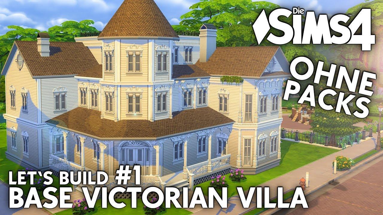 die sims 4 haus bauen ohne packs base victorian villa 1 grundriss deutsch youtube. Black Bedroom Furniture Sets. Home Design Ideas