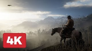 Riding Across The Beautiful Red Dead Redemption 2 Map 4k