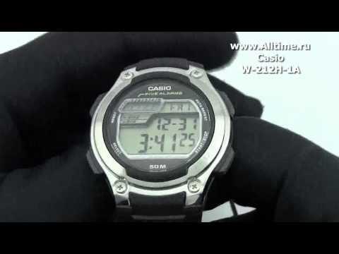 Мужские японские наручные часы Casio W-212H-1A