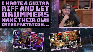 Download I wrote a guitar riff and let drummers make their own interpretation... Mp3 and Videos