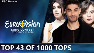 Eurovision 2016 l TOP 43 OF 1000 TOPS