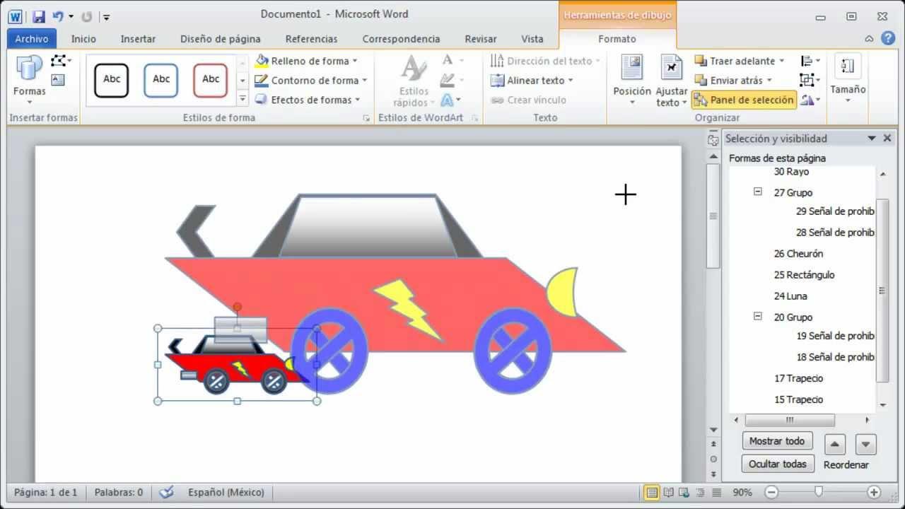 Tutorial De Word Uso De Las Autoformas Agrupar Objetos