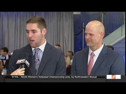 Trevor Knight and Danny Wuerffel on ESPN Red Carpet Show