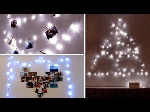 decora tu cuarto con luces 3 ideas por lau youtube