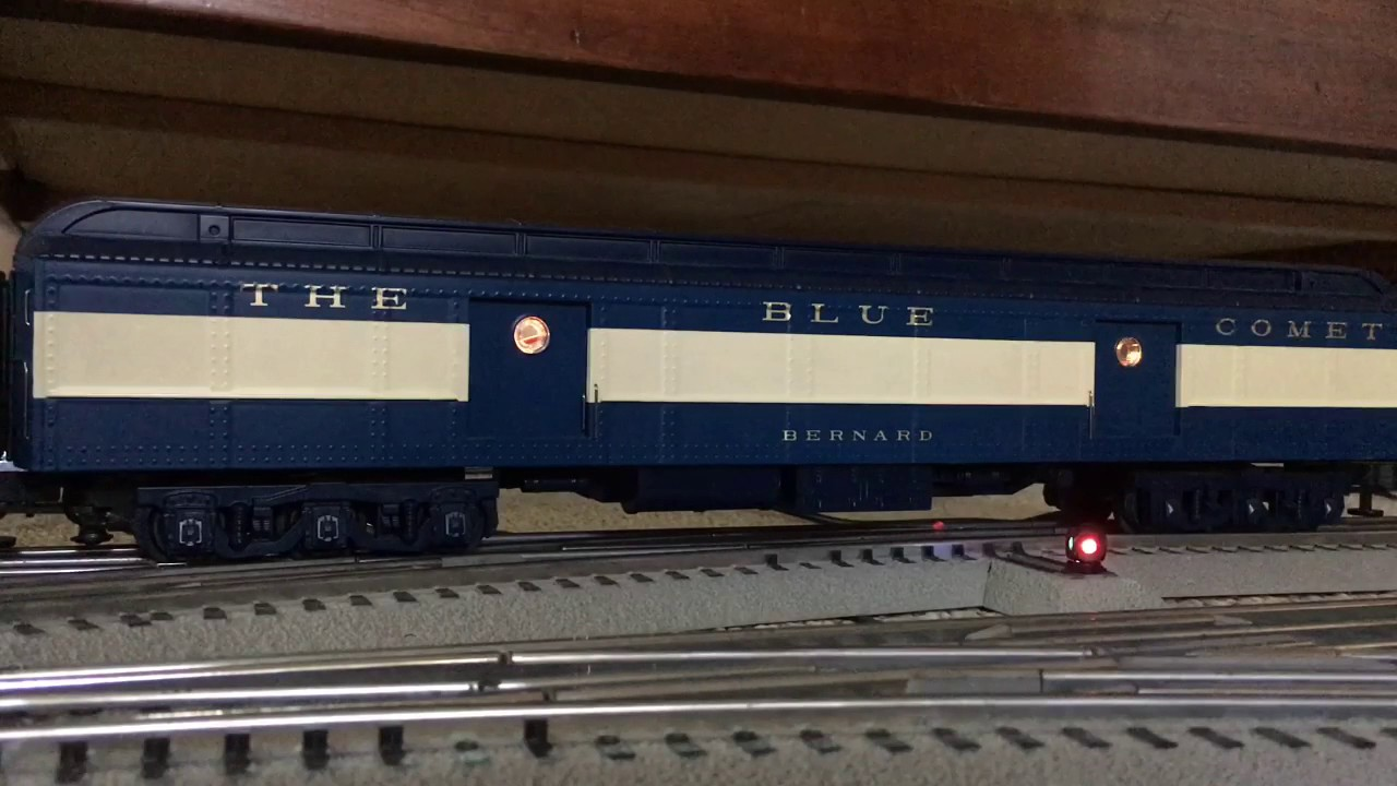 MTH Blue Comet Baggage Car with Stationsounds