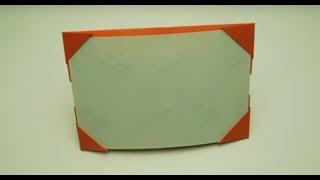 Как сделать рамку для фотографий из бумаги. Оригами фоторамка из бумаги