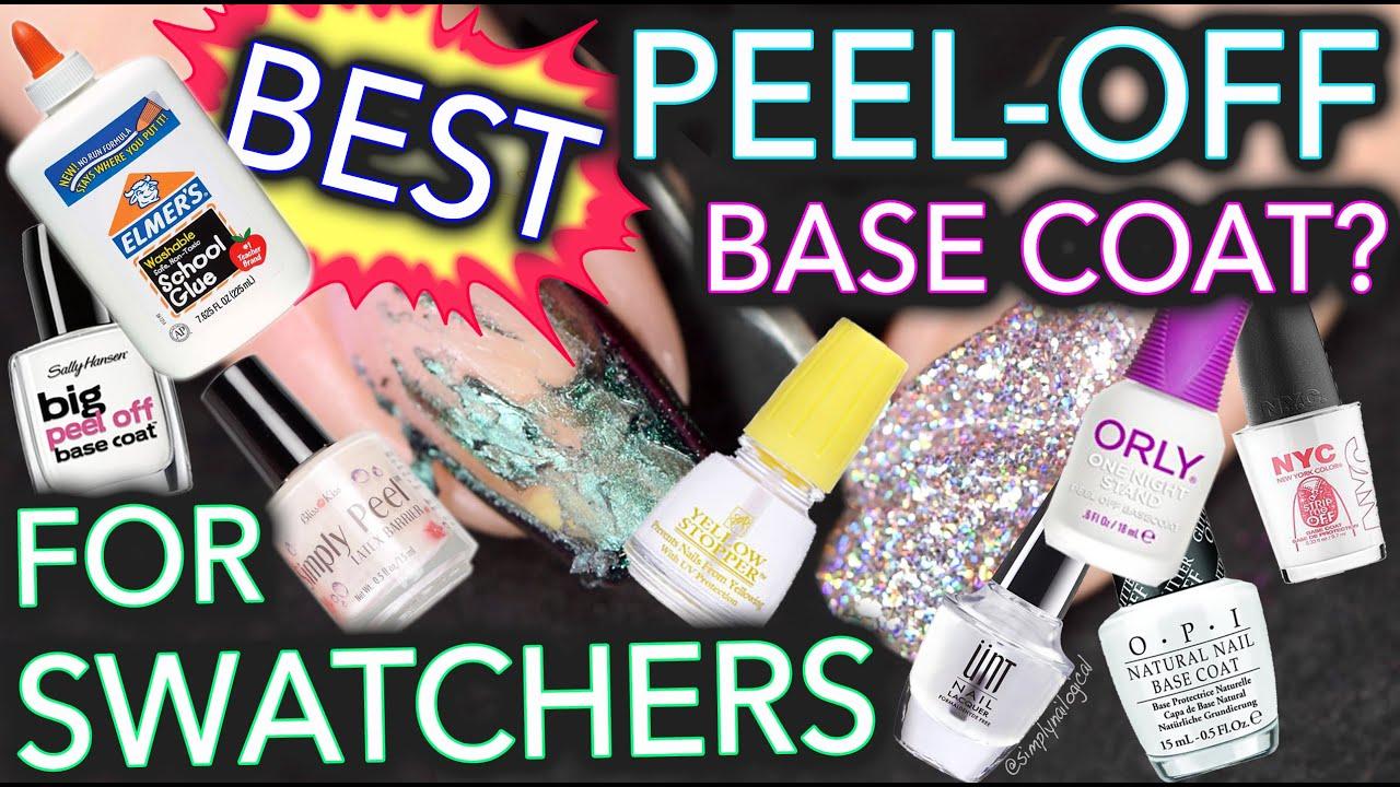 peel- base coat - swatchers
