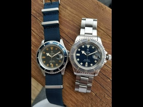 Which vintage Tudor 94110 blue snowflake is worth double the other?