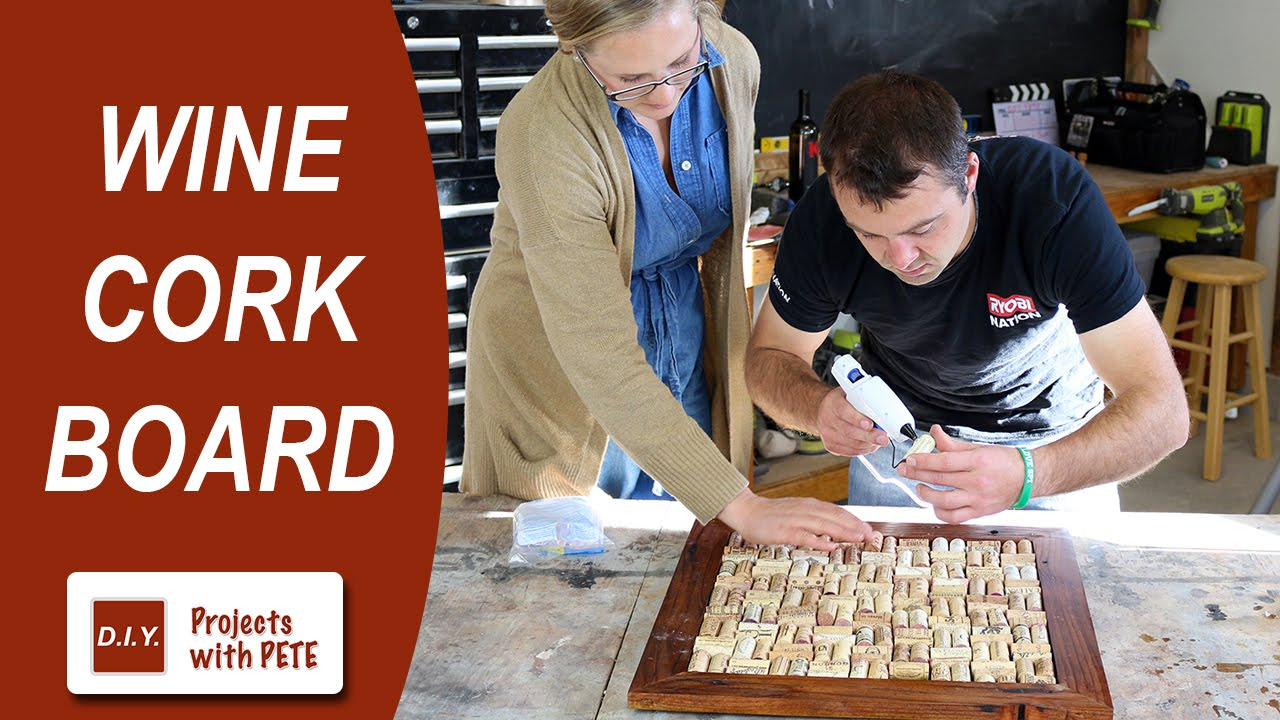 How to make a wine cork board youtube for Making a cork board from wine corks