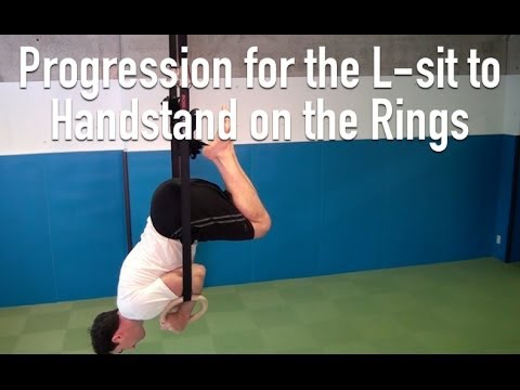 gymnastic rings training  lsit to handstand  youtube