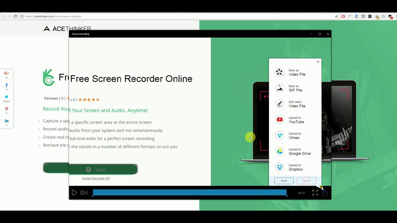 AceThinker Free Screen Recorder Online - 100% Free Video Recorder