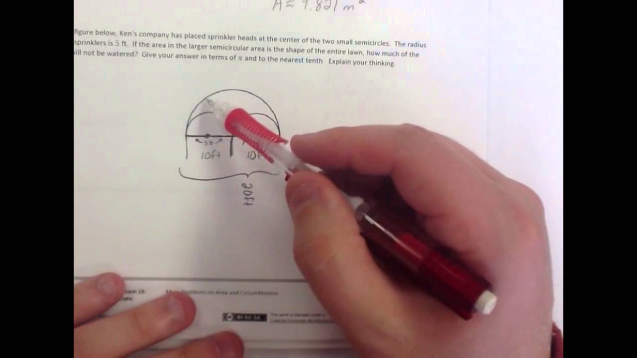 hight resolution of Problems on Area and Circumference (solutions