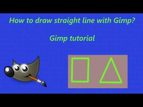 How To Draw Straight Line In Gimp L Gimp Tutorial