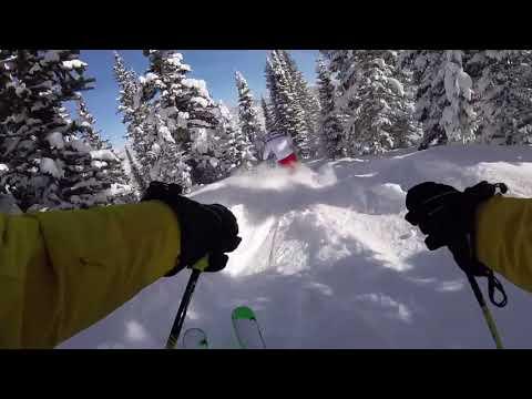 JBThree.com Snow Skiing Aspen 2018 -JB3 & DanielS powder skiing Power Line Glades Snowmass 1