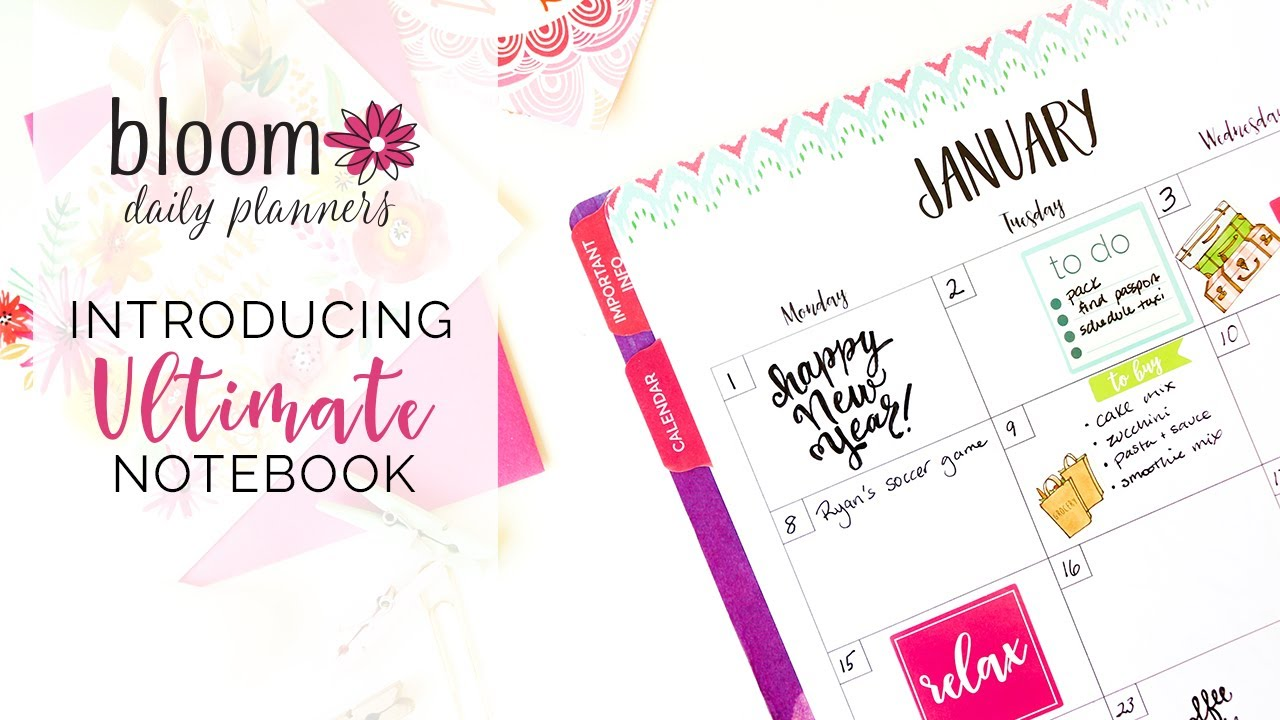 bloom daily planner s ultimate planner calendar notebook to do