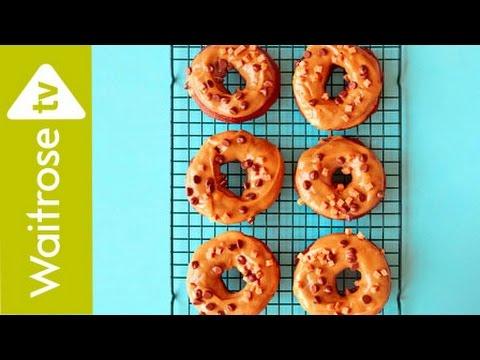 Peanut Fudge Chocolate Ring Doughnuts | Waitrose