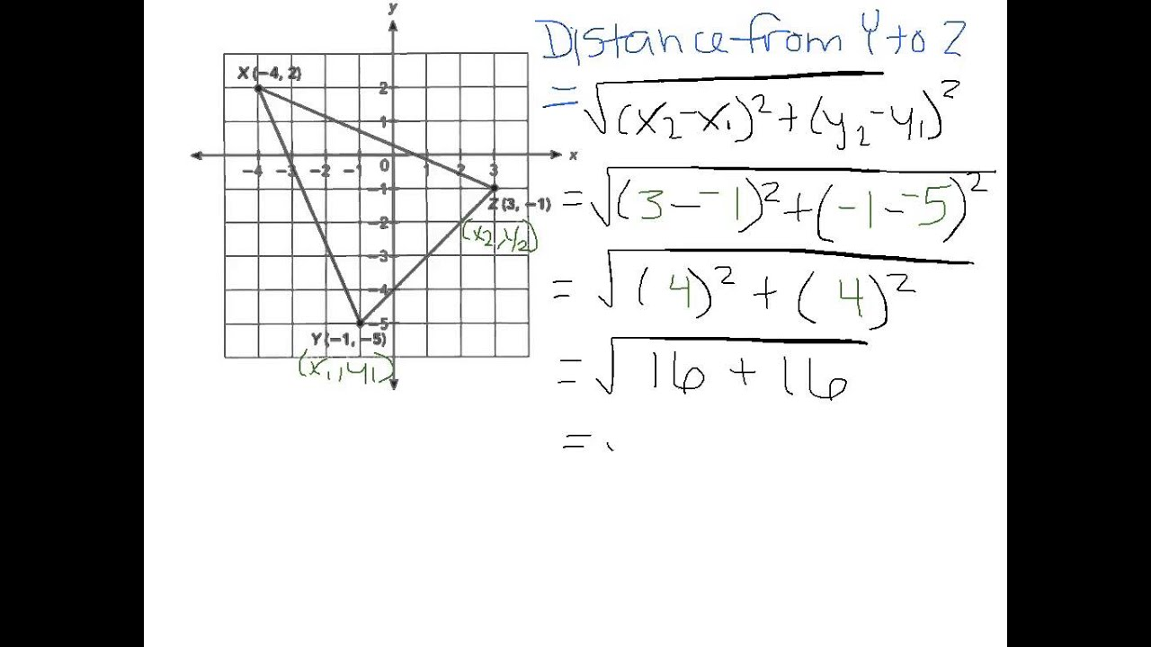 Worksheets Distance Formula Word Problems With Solutions use the distance formula to solve a geometry problem ex 2 youtube 2