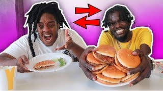 Switching DIETS With My Best Friend for 24 HOURS! (bad idea)