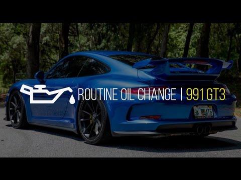 2014 911 GT3 Routine Oil Change