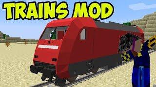 Minecraft TRAIN MOD 1.12.2 - REALISTIC TRAINS! PART 2 (Spotlight) Alex Funlord