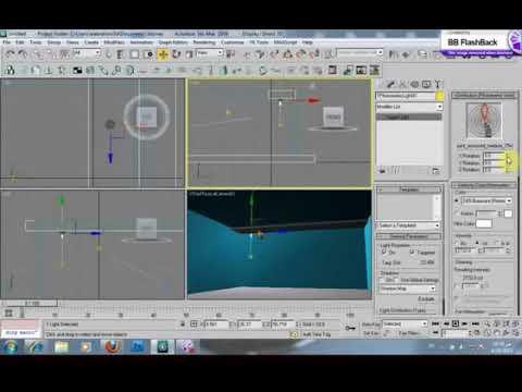 طريقة استخدام photometric بشكل سريع  اضاءة ies في برنامج الماكس
