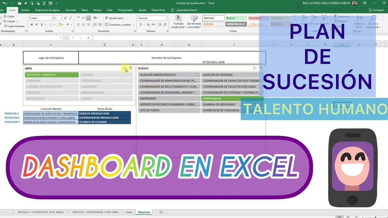 ⭐️DASHBOARD INTERACTIVO⭐️ Sucesión de Puestos RH 👩🏻💻 en Excel