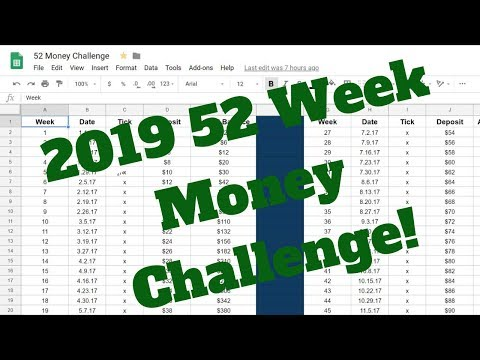 2019 52 Week Money Challnge Review