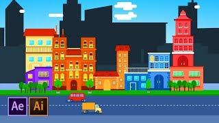 كيفية إنشاء الرسوم المتحركة المدينة | After Effects البرنامج التعليمي المصور