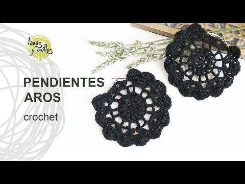 7fe45289664e Tutorial Pendientes o Aros a Crochet o Ganchillo - YouTube