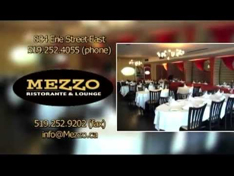 Italian Restaurant Windsor | Mezzo 519-252-4055 | Catering Windsor - YouTube