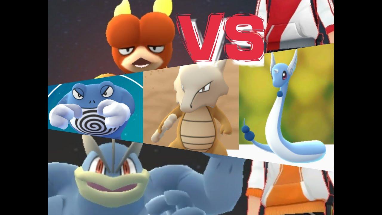 Pokémon GO Gym Battles Dragonair Marowak Poliwrath Hitmonlee & more!