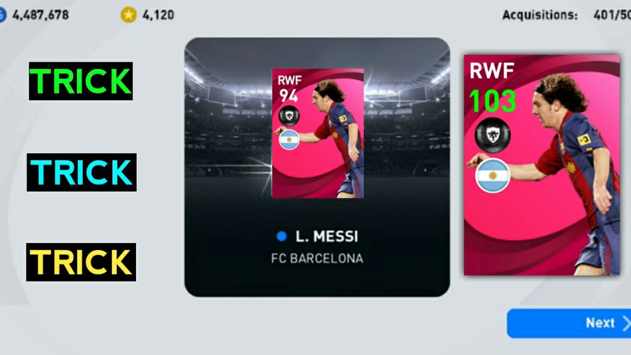BIG TRICK To Get 103 Rated Iconic Messi In Pes 2021 Mobile | Trick How To Get 103 Iconic Messi Pes21