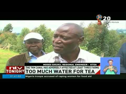 Farmers in Gura, Nyeri county demand compensation after canal water destroyed their crops