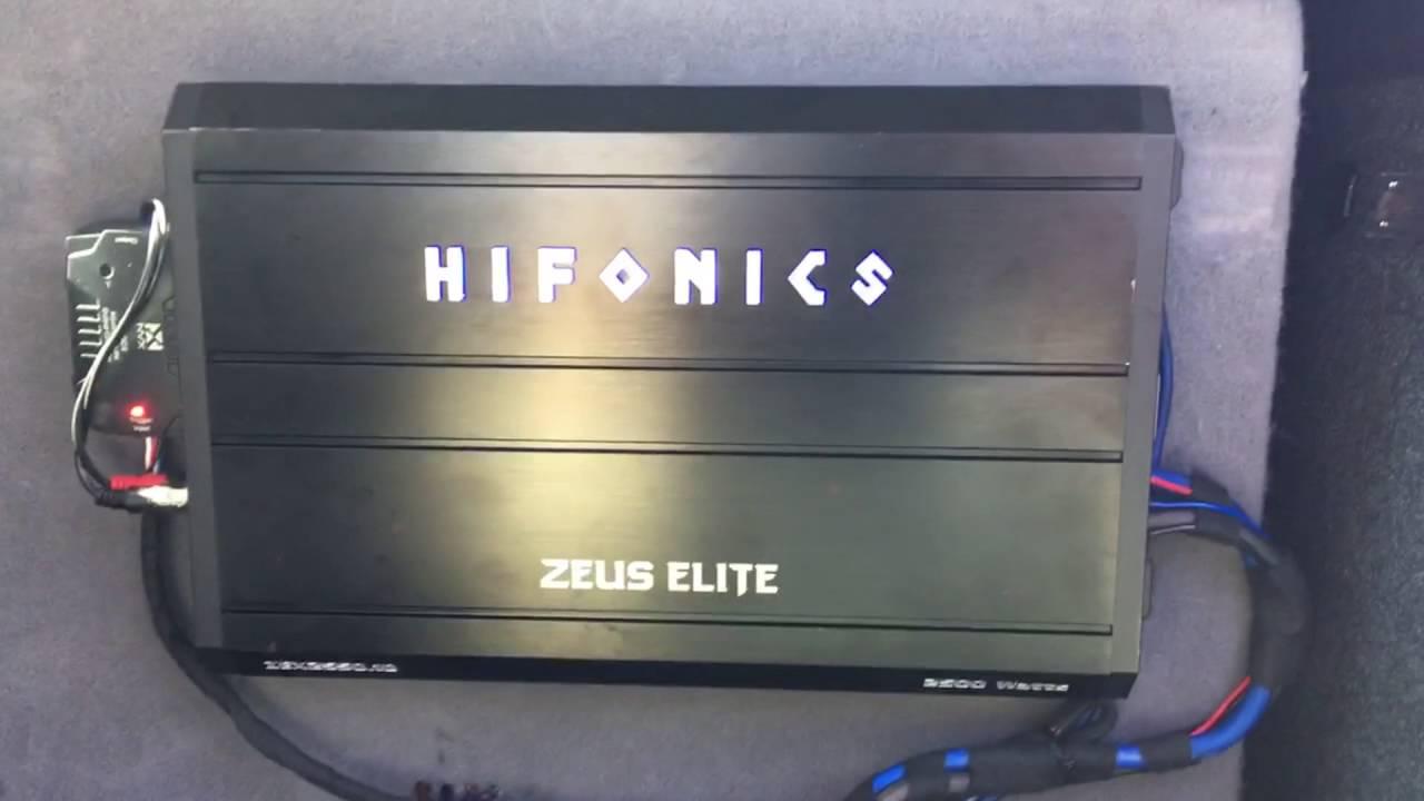 Hifonics Zues Elite 2550.1 ZEX Series Amplifier Max Power - YouTube