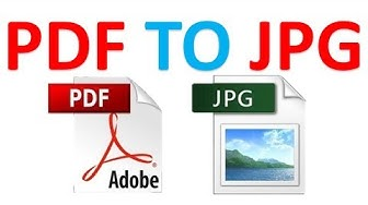 How to convert PDF to JPG without using any software