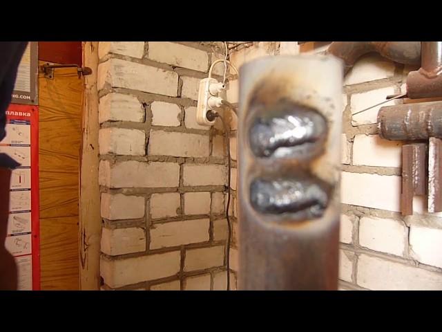 Простой способ сварки труб под зеркало для начинающих