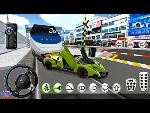 3D Driving Class #27 - New Green Convertible Lambo Paint  | Android Gameplay HD