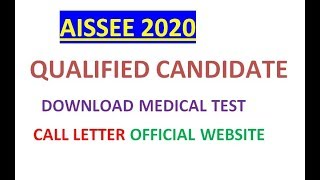 SAINIK SCHOOL QUALIFIED STUDENT DOWNLOAD MEDICAL TEST CALL LETTER