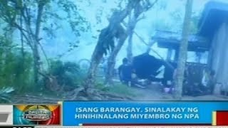 Isang barangay sa Kapalong, Davao del Norte, sinalakay ng mga umano