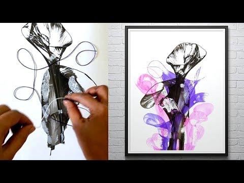 Thread and Ink Painting, How To Make A Thread Painting