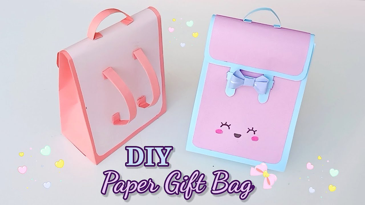 How To Make Paper gift bag? How To Make Paper School bag || Easy Paper Bag Tutorial || School hacks