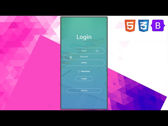 Snaky Login Page | UI Design to HTML, CSS Using Bootstrap 5