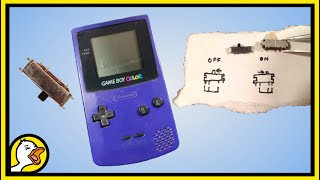 Game Boy Color Reṗair   Power Switch Replacement