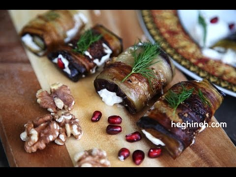 Լցոնած Սմբուկով Աղցան - Rolled Eggplant Salad - Հեղինե - Heghineh Cooking Show
